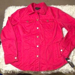 Pendleton pink tailored jean jacket size large